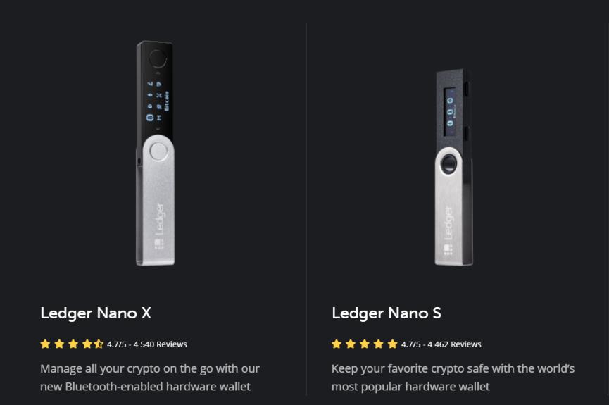 Ledger Nano S vs Nano X